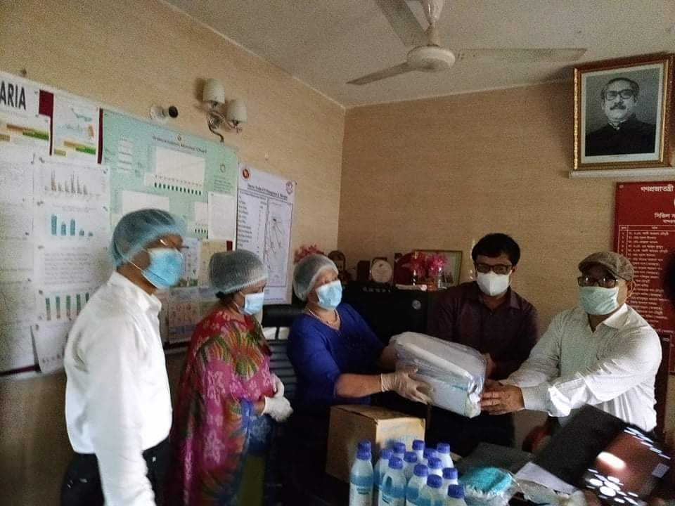 On the moment of receiveing donation by CS of Bandarban hospital