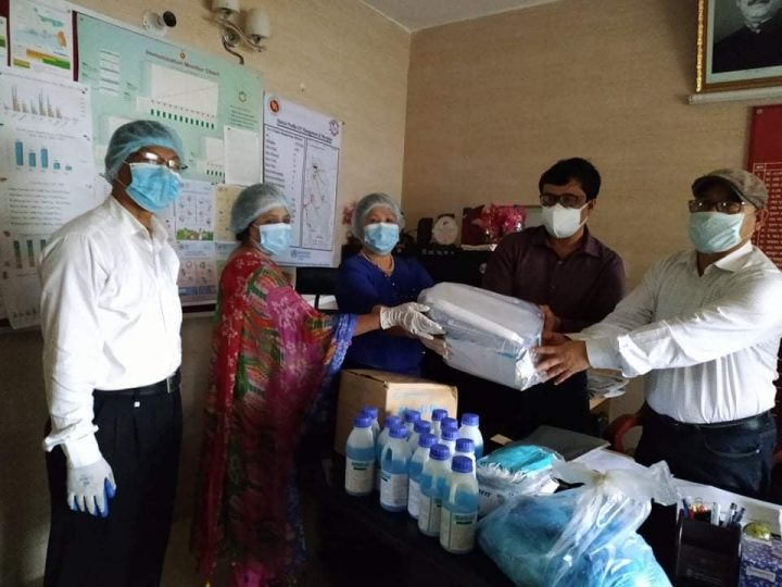Essential health equipment assistance to the front-line fighters of Bandarban Health Department by AKS